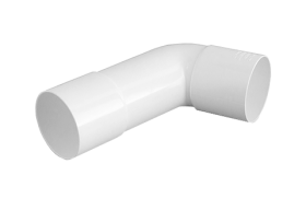 Iplex PVC-U Rainwater 65mm & 80mm Downpipe Socket Bend Solvent Cement Joint Female & Female